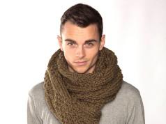 В'язаний чоловічий шарф