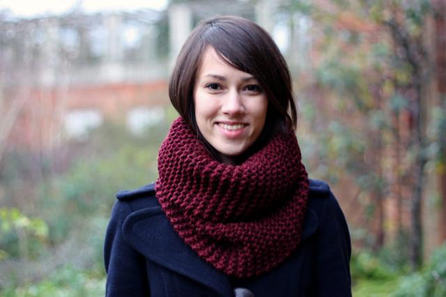 В'язаний шарф хомут (снуд)