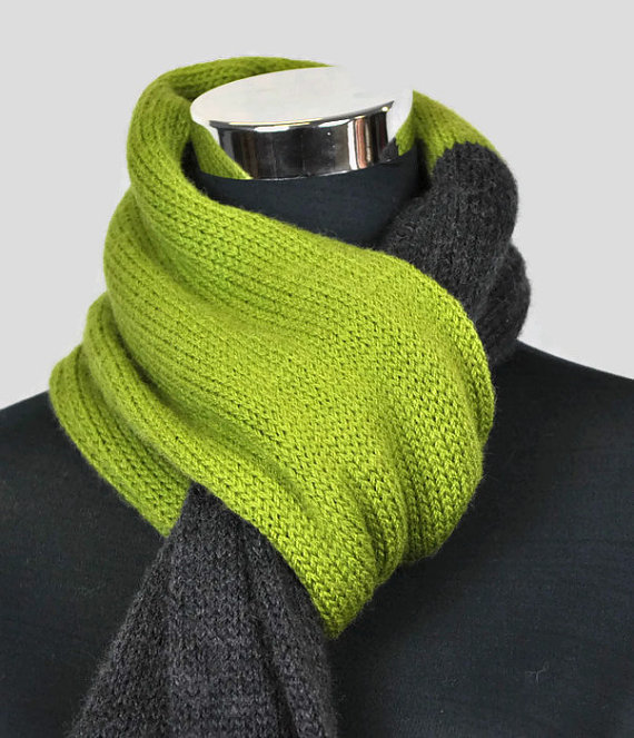 чоловічий шарф спицями - 4