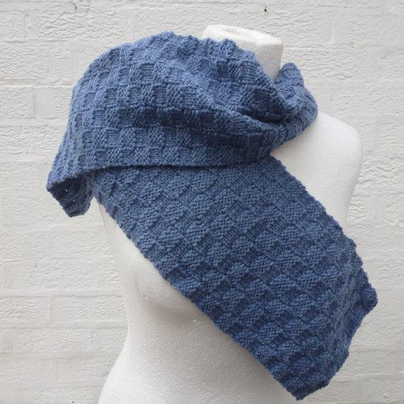 чоловічий шарф спицями - 12