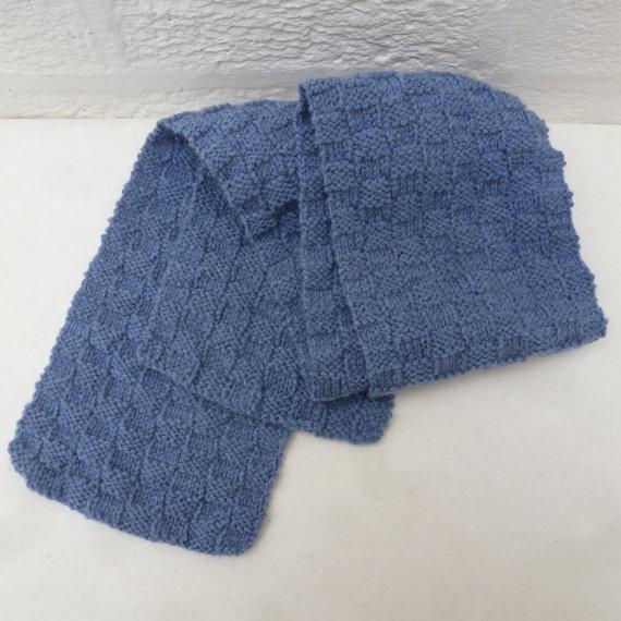 чоловічий шарф спицями - 13