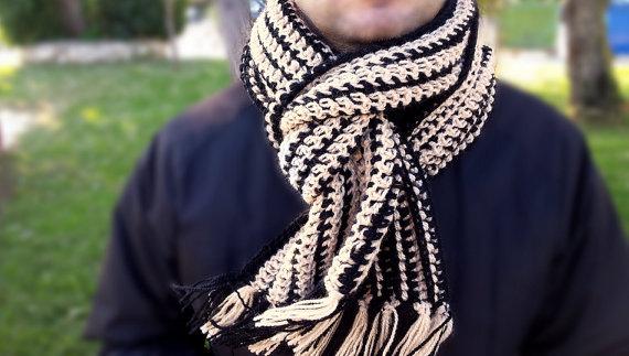 чоловічий шарф спицями - 16