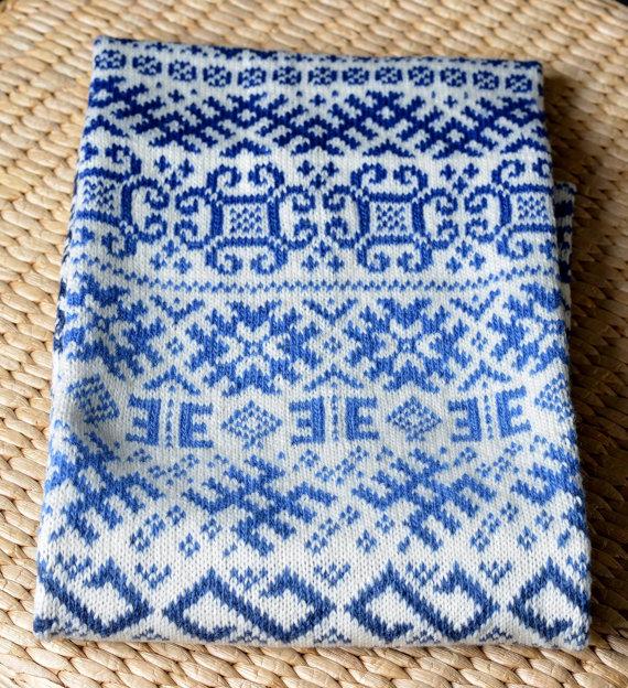 чоловічий шарф спицями - 9