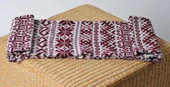 чоловічий шарф спицями - 10