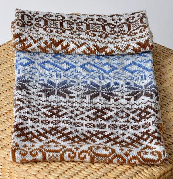 чоловічий шарф спицями - 11