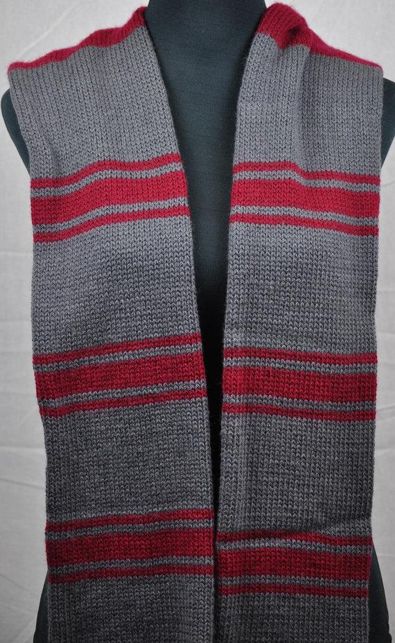чоловічий шарф спицями -6