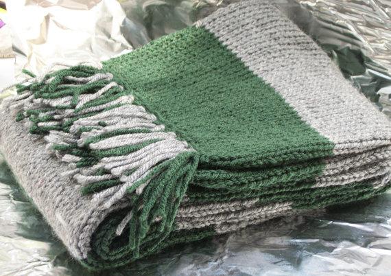 чоловічий шарф спицями - 7