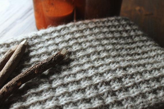 чоловічий шарф спицями - 17