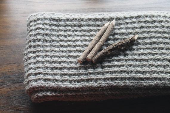 чоловічий шарф спицями - 18
