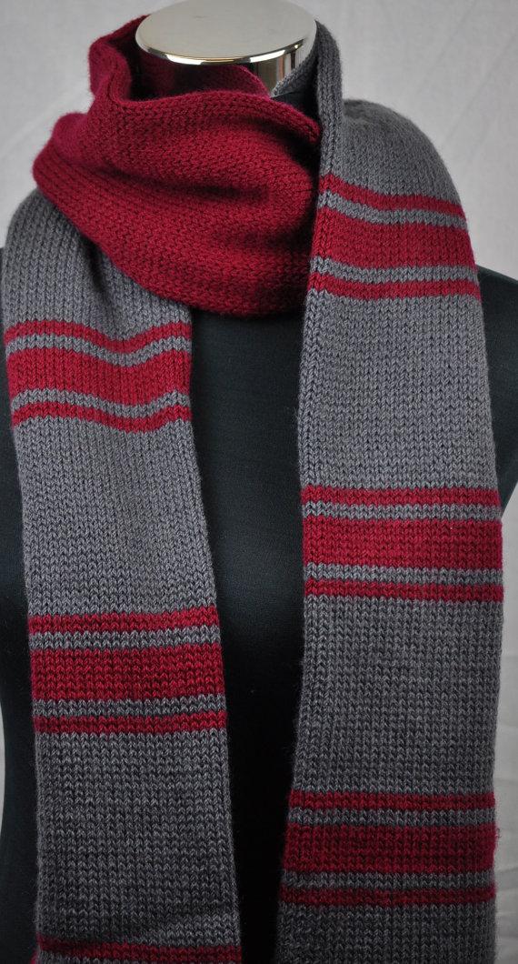 чоловічий шарф спицями - 8