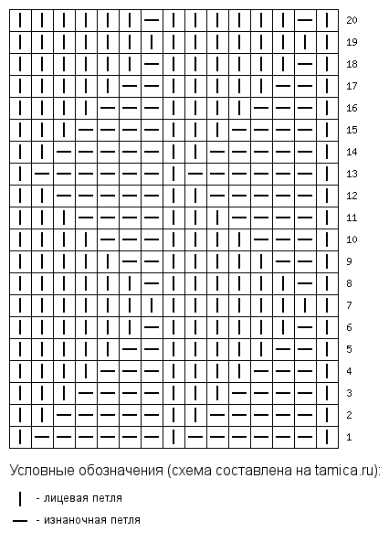 tamica.ru - Схема вязания 15x20