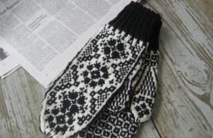 В`язані рукавички у скандинавському стилі