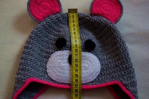 Як викроїти і вшити підкладку із флісу у в'язану шапочку з вушками - 3