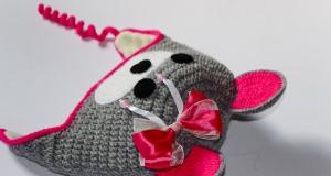 Як викроїти і вшити підкладку із флісу у в'язану шапочку з вушками