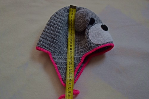 Як викроїти і вшити підкладку із флісу у в'язану шапочку з вушками - 4