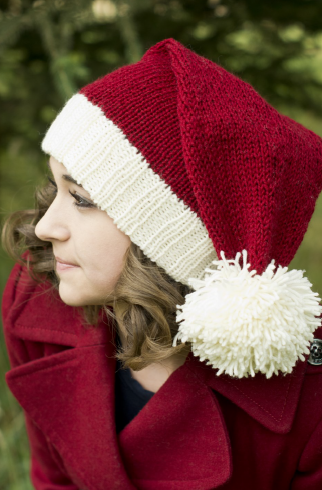 В'язана новорічна шапочка спицями - 3