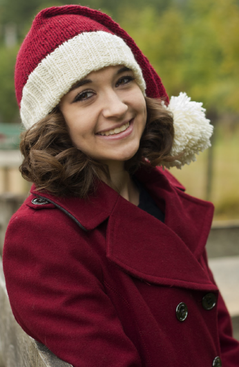В'язана новорічна шапочка спицями - 5