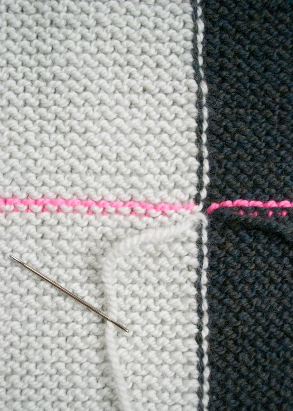 Жилетка (безрукавка) прямокутник зв'язана поперик спицями - 6