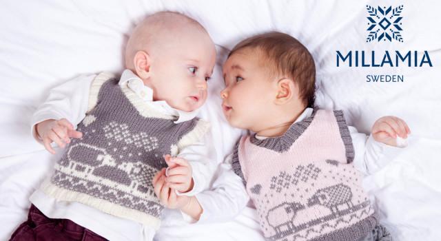 В'язана жилетка (безрукавка) для немовляти до одного року