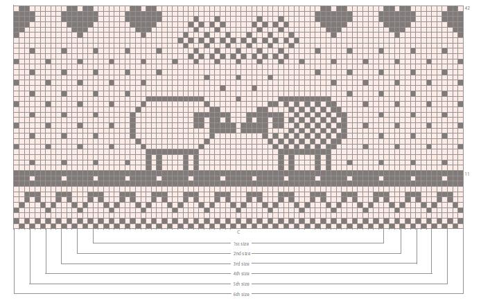 Схема в'язаної жилетки із жакардовим візерунком для немовляти до одного року