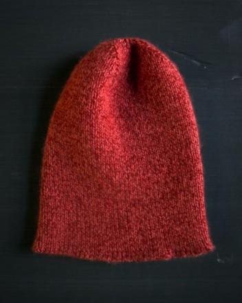 В'язана шапочка спицями для мужчинчиків - 1
