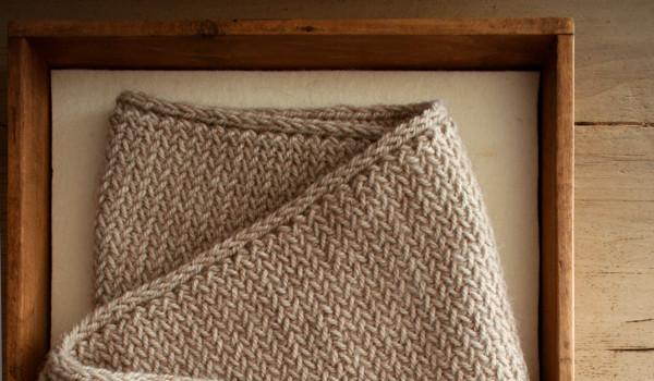 В'язаний чоловічий шарф спицями для початківців