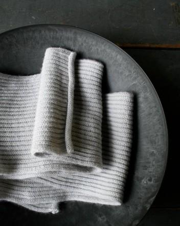 В'язаний шарф англійською резинкою спицями - 5