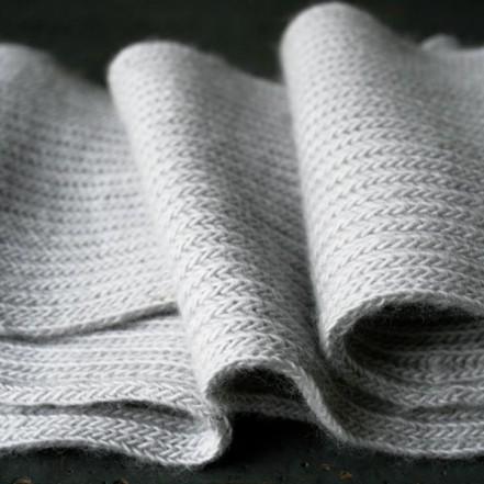 В'язаний шарф англійською резинкою спицями - 6