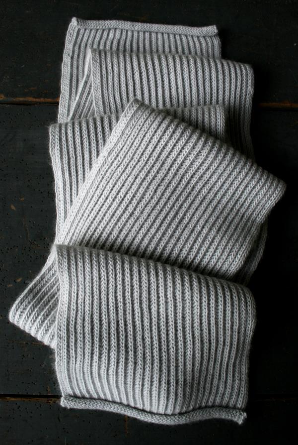 В'язаний шарф англійською резинкою спицями - 7