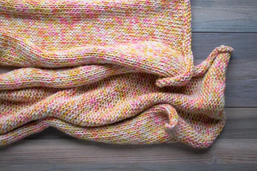 В'язаний шарф з меланжевої пряжі спицями - 6