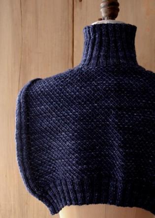 В'язаний шарф-светер спицями - 8