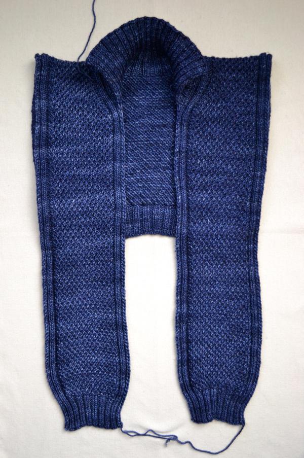 В'язаний шарф-светер спицями - 7