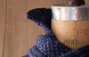 В'язаний шарф-светер спицями