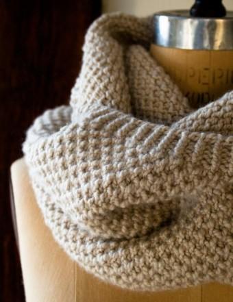 Простенький снуд (шарф-хомут) для початківців - 3