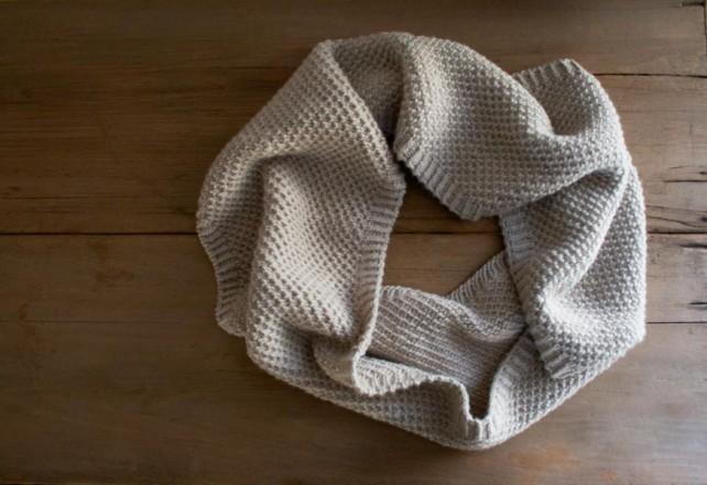 Простенький снуд (шарф-хомут) для початківців - 1