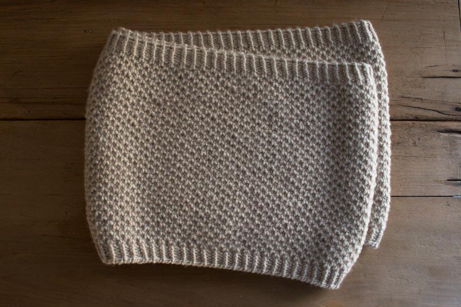 Простенький снуд (шарф-хомут) для початківців - 4