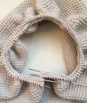 Простенький снуд (шарф-хомут) для початківців - 5