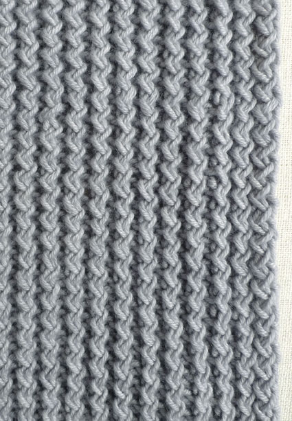 Теплий зимовий шарф спицями - 2