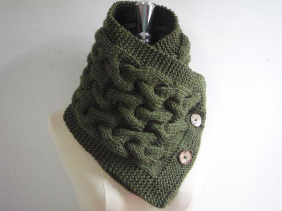 Короткий шарф спицями - 1