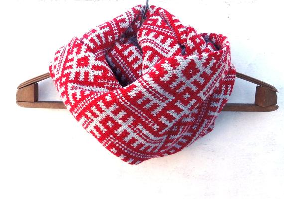 Жакардовий шарф спицями - 3