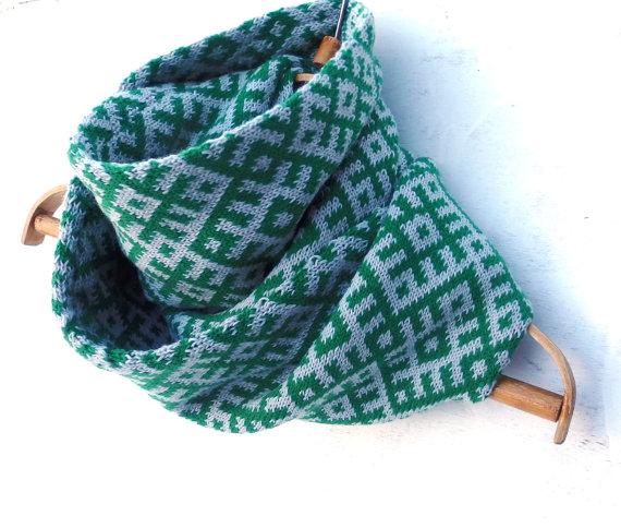 Жакардовий шарф спицями - 4