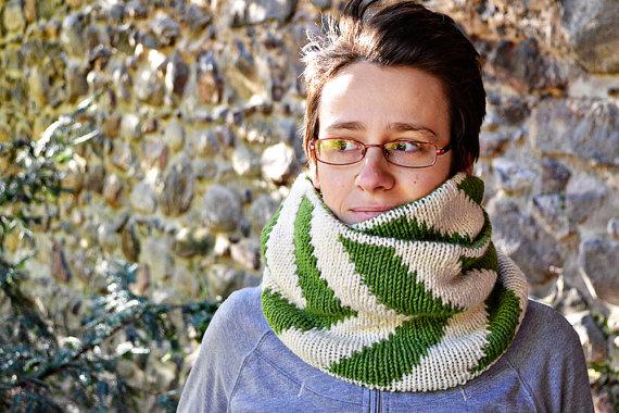 Жакардовий шарф спицями - 5