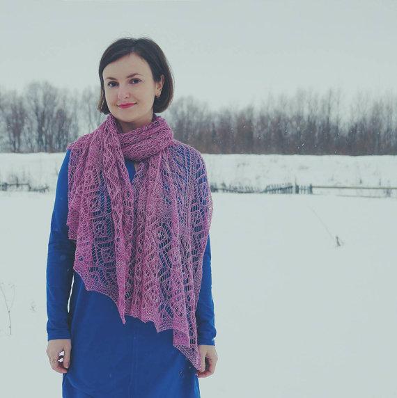 Ажурний шарф спицями - 2