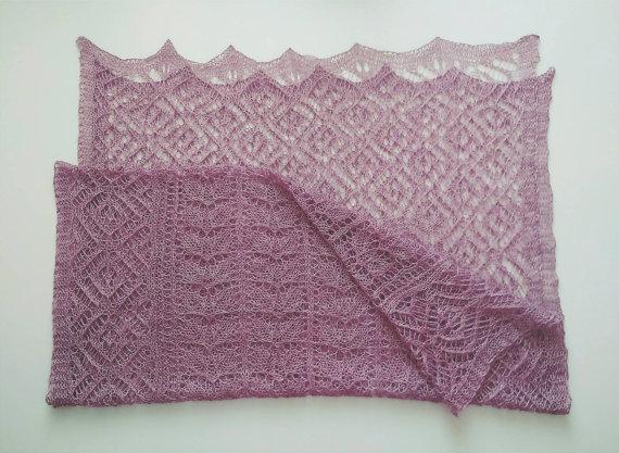 Ажурний шарф спицями - 3