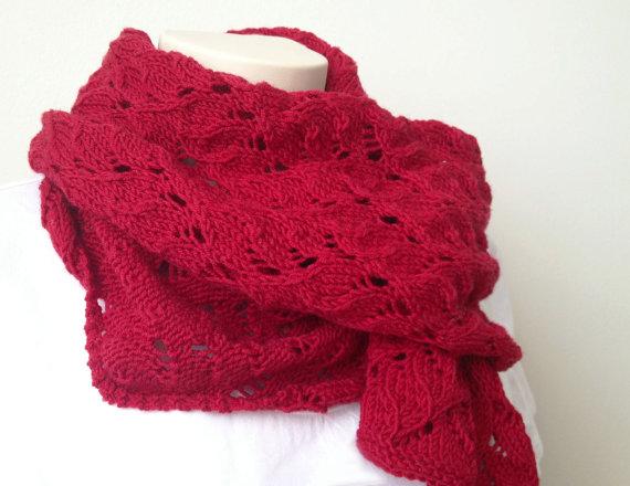 Ажурний шарф спицями - 4