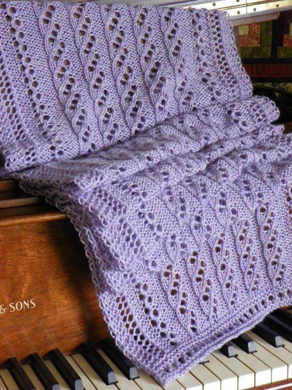 Ажурний шарф спицями - 5