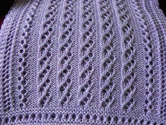 Ажурний шарф спицями - 6