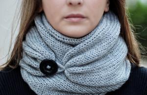 В'язаний шарф спицями