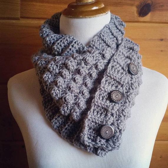 Короткий шарф спицями - 2