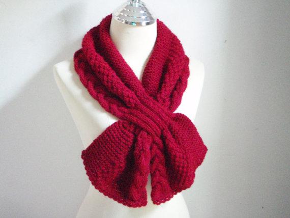 Короткий шарф спицями - 4